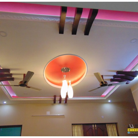 gypsum plastering in kerala with good interior designs