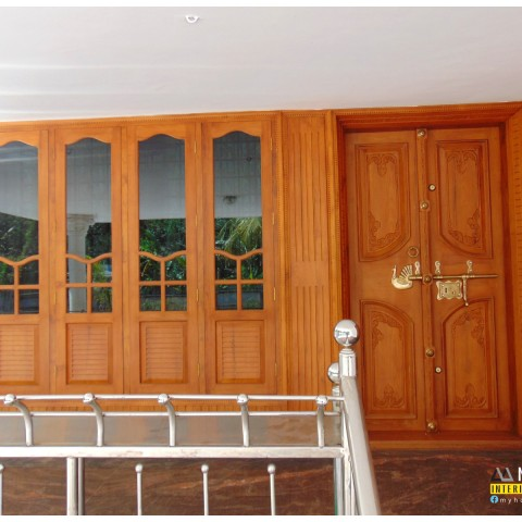 Modern & Traditional kerala front door designs