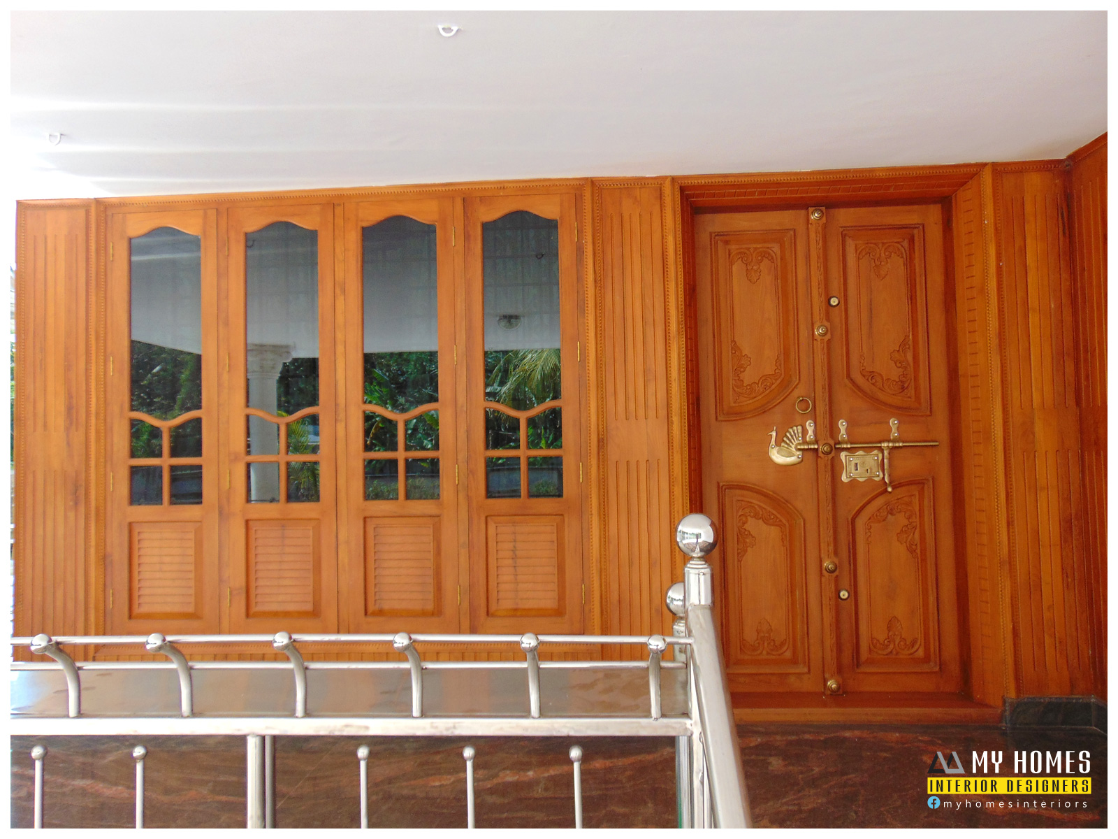 Kerala interior design ideas from designing company thrissur for Home front door design indian style