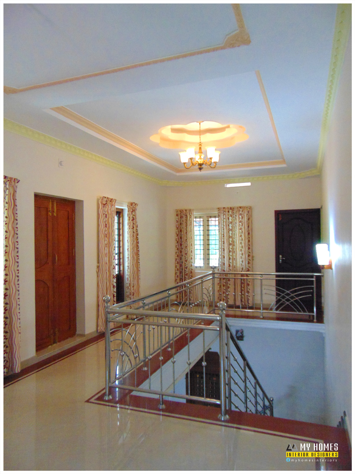Kerala House Staircase Design From Professional Staircases Designers Interior