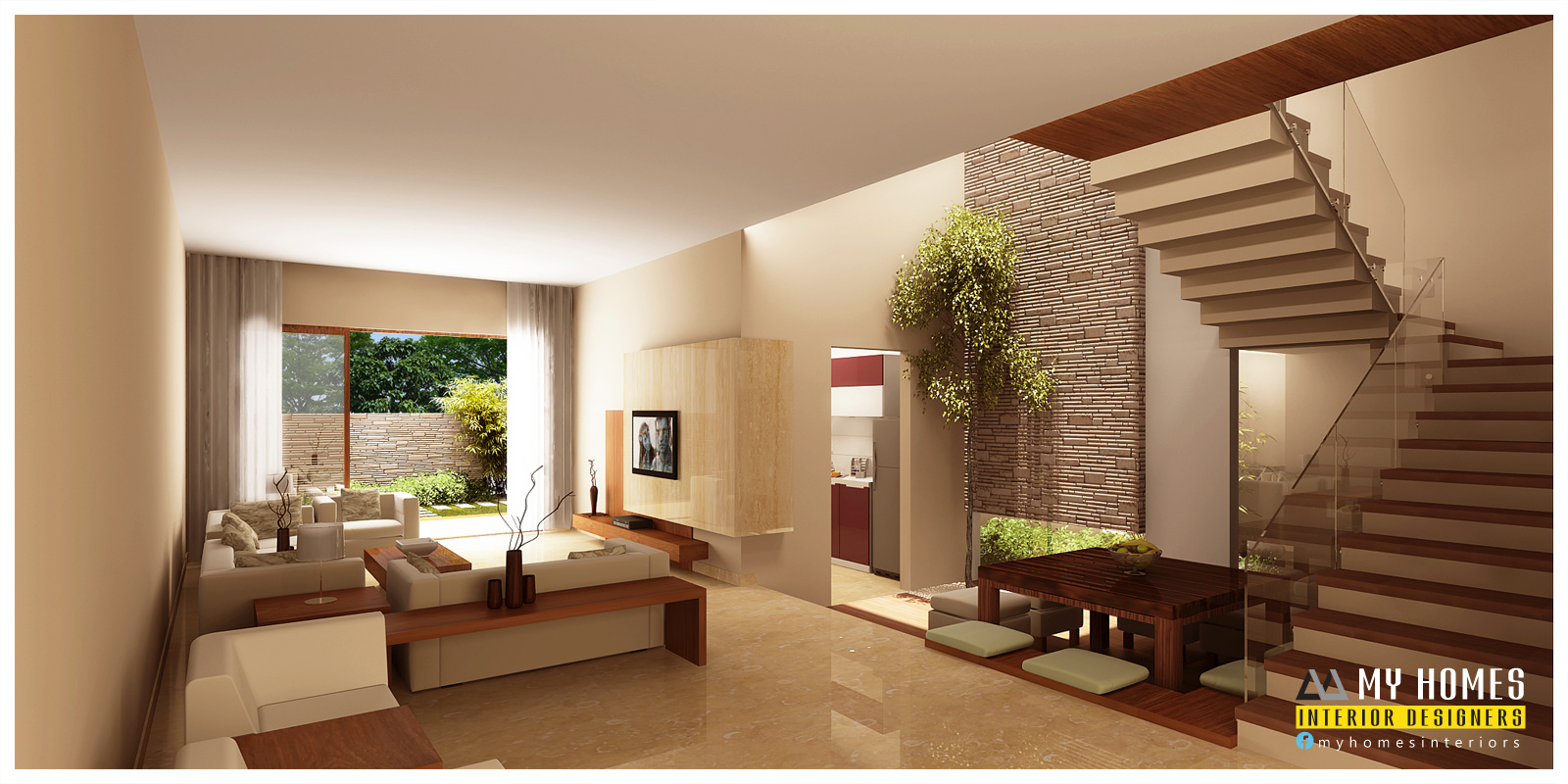 Kerala interior design ideas from designing company thrissur for House interior ideas