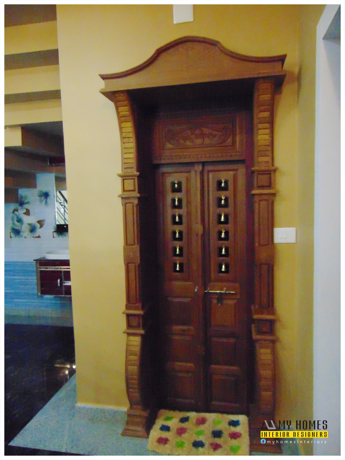 Pooja Room Door Designs Pooja Room: Traditional Homes House Interior Pooja Room Designs Kerala