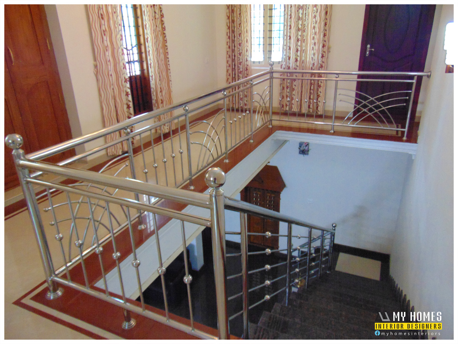 Latest Modern Home House Staircase Designs Kerala Thrissur