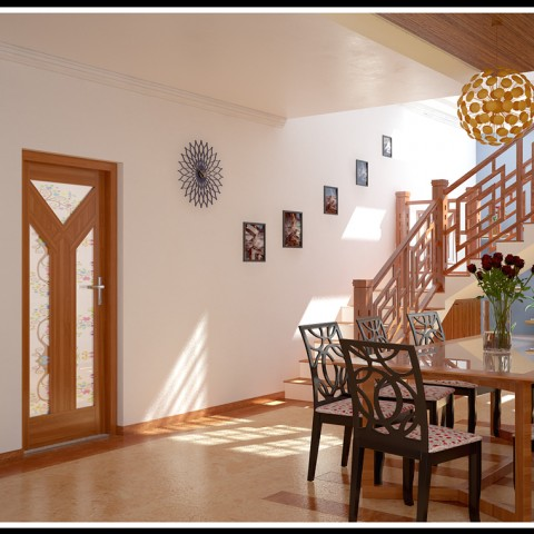 Kerala interior design ideas from designing company thrissur for Latest dining room designs