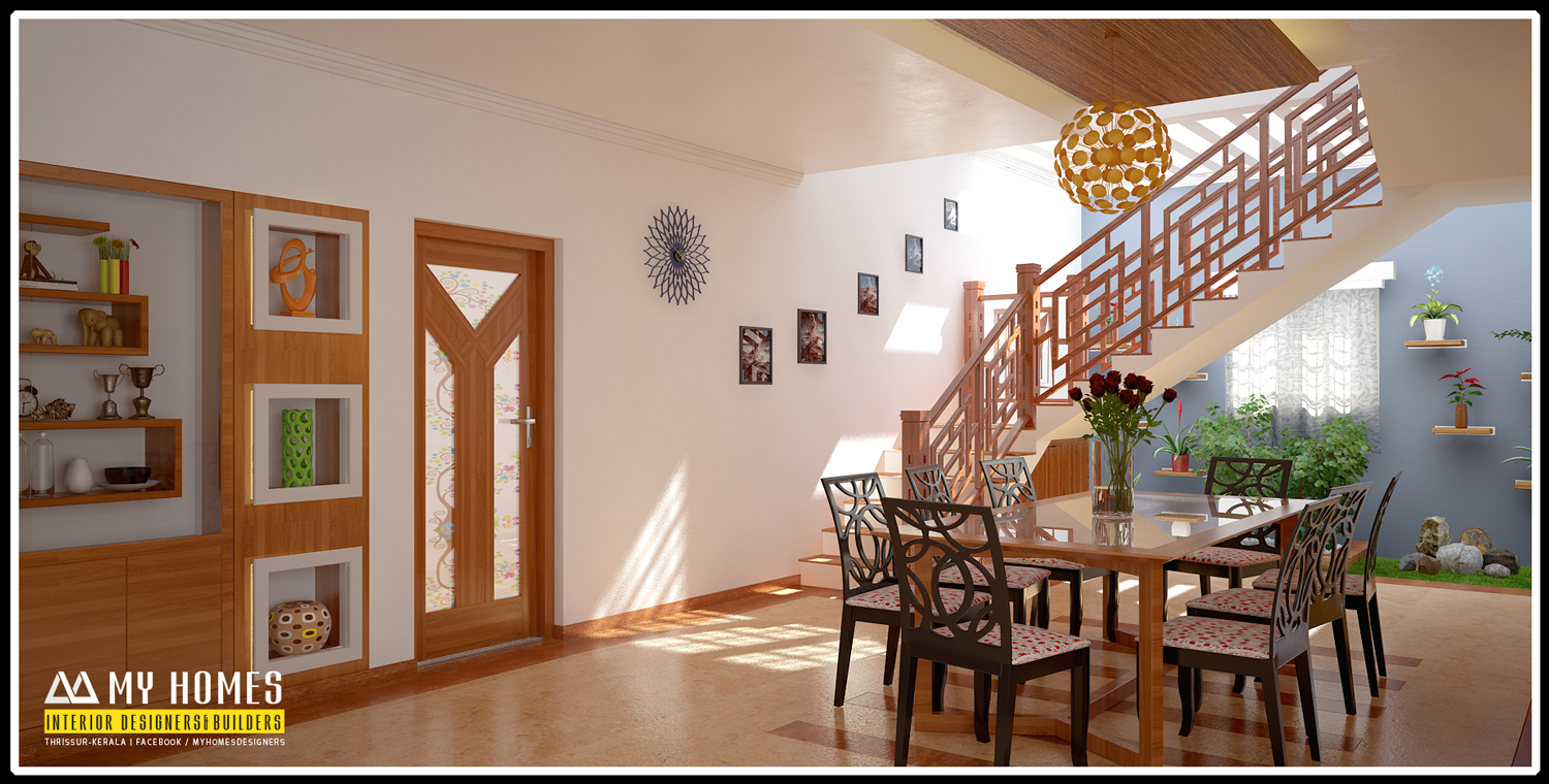 Kerala interior design ideas from designing company thrissur for Dining hall wall design