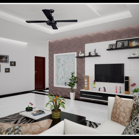 Designing ideas for indian kerala home staircase models for Living room interior in kerala