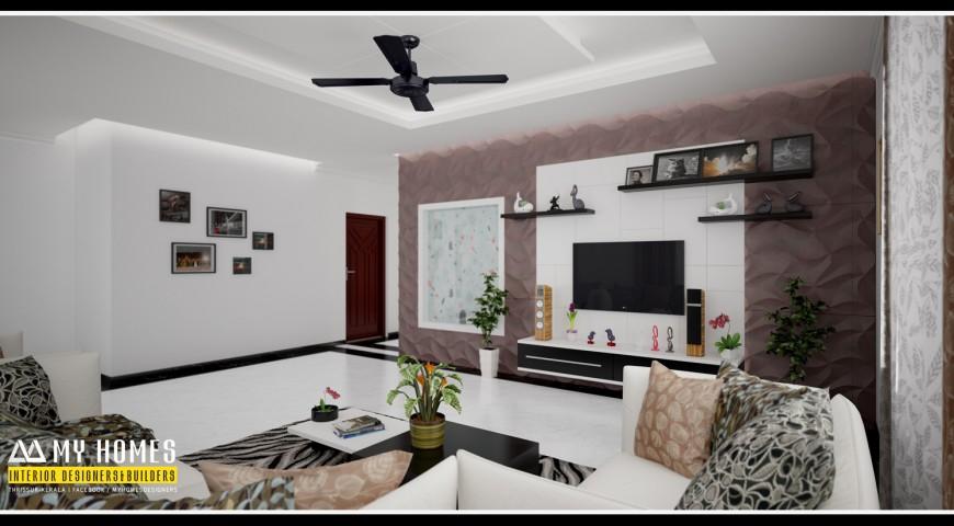 Living room designs archives kerala interior designers for Modern living room in kerala