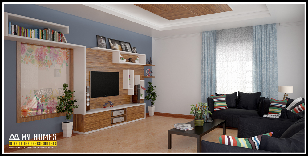 Modern Homes Living Room Interior Designs In Kerala Style IN Home Interiors Design