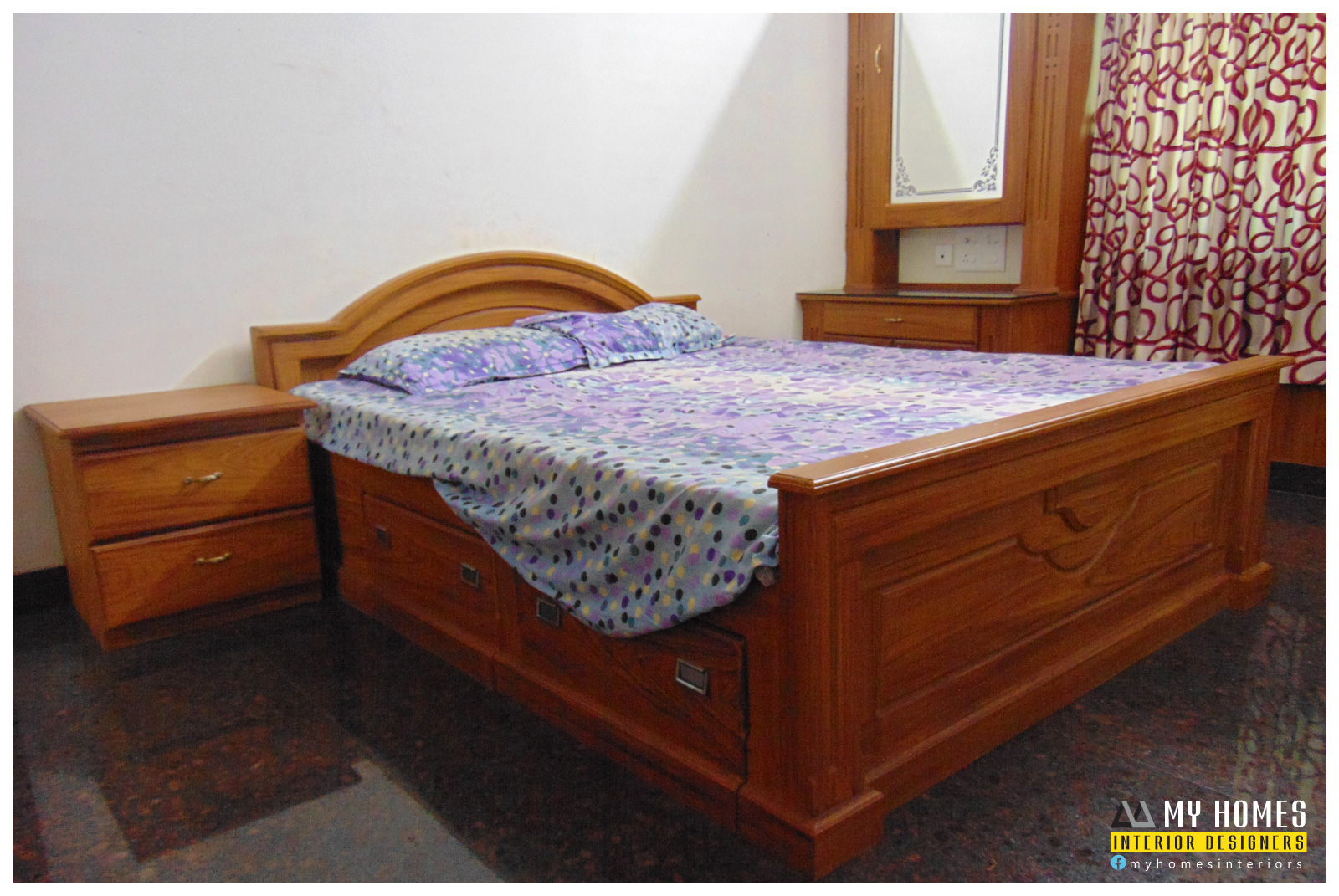 kerala bedroom furniture - kerala interior designers