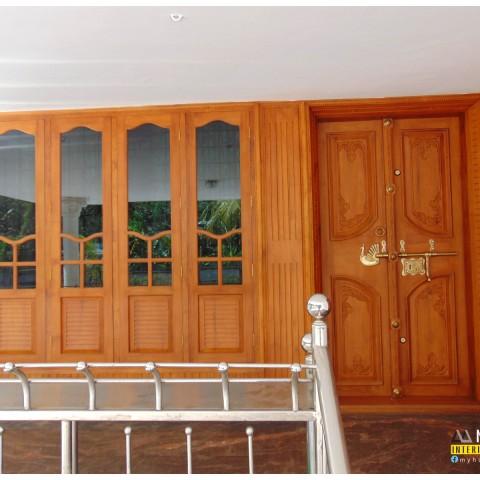 Modern & Traditional kerala front door designs