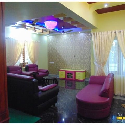 Modern kerala living room interiors design styles