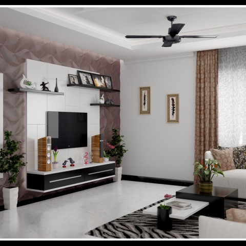 Elegant Living home interiors in kerala