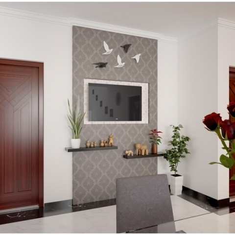 Modern homes dining room & dining table design in kerala